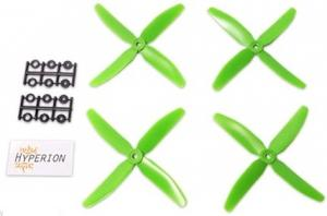 5x4 Four-Blade Prop Green (CW & CCW 2 pairs)