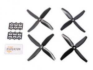 5x4 Four-Blade Prop Black (CW & CCW 2 pairs)