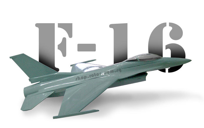[XY-F16 (XYF16)] 12 Ducted Fan F16 Airplane, Fiberglass Body (El