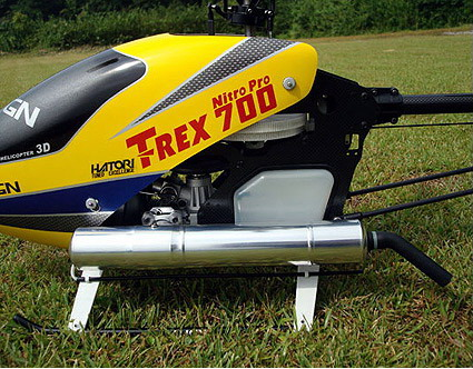 HAT946 Helicopter Tuned Muffler for 3D, 90FS-3D.2 for TREX 700, YS91ST/SR Front Head
