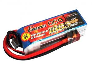 Gens Ace 1800mAh 11.1V 25C 3S1P Lipo Battery Pack
