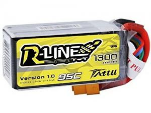 Tattu R-Line 1300mAh 14.8V 95C 4S1P Lipo Battery