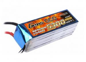Gens Ace 5300mAh 14.8V 30C 4S1P Lipo Battery Pack