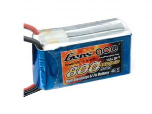 Gens Ace 800mAh 11.1V 20C 3S1P Lipo Battery Pack