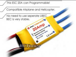RCTimer ESC 20A Brushless Motor Speed Controller