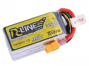 Tattu R-Line 1550mAh 14.8 V 95C 4S1P Lipo Battery