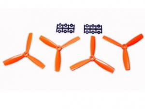 5x4.5 Bullnose Style Three Blade Prop Orange (CW & CCW 2 pairs)