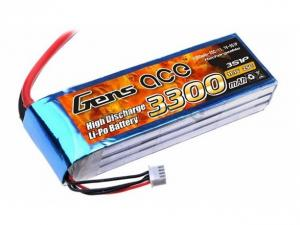 Gens Ace 3300mAh 11.1V 25C 3S1P Lipo Battery Pack