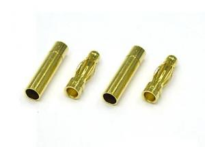 3.5mm Gold Plated Spring Connector (2 pairs)