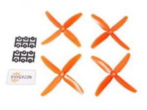 5x4 Four-Blade Prop Orange (CW & CCW 2 pairs)