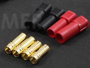 XT150 Connectors w/ 6mm Gold Connectors - Red & Black