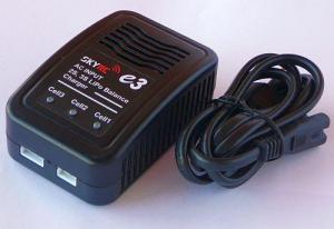 SKYRC Imax E3 2S 3S Lipo Charger w/110-240V Input Power Supply