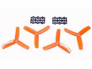 4x4 Bullnose Style Three Blade Prop Orange (CW & CCW 2 pairs)