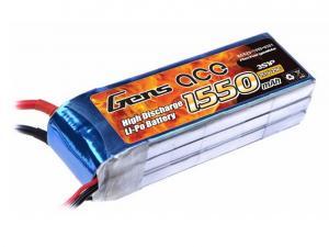 Gens Ace 1550mAh 11.1V 25C 3S1P Lipo Battery Pack
