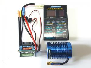 Hobbywing Ezrun Brushless Sensorless 35A-SL+32T/1200KV Motor+Program Card for Car ESC